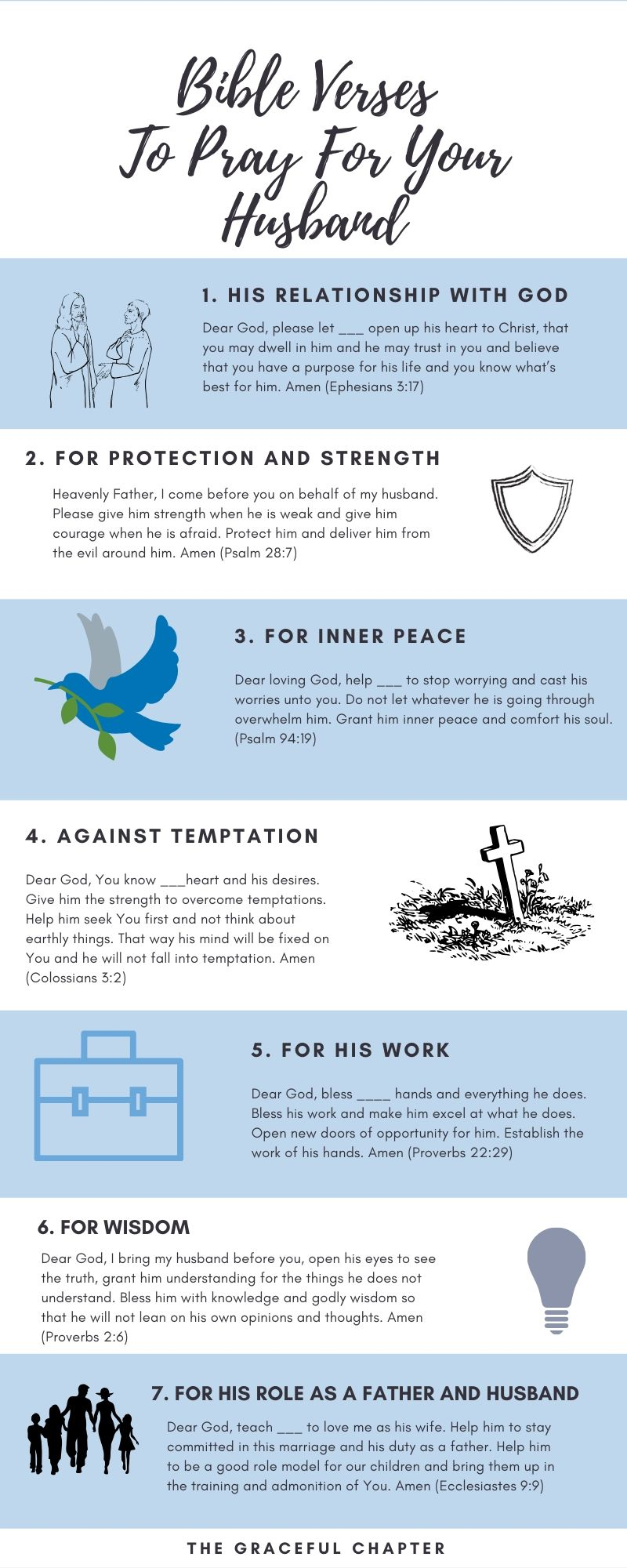 bible verses to pray for your husband
