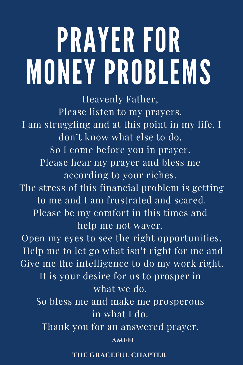 prayer for money problems