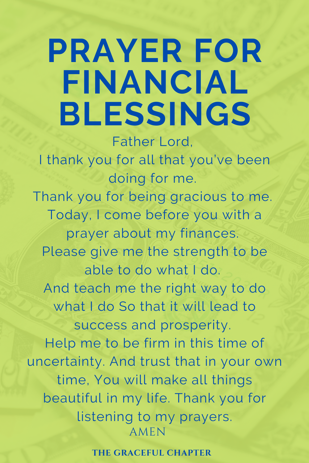 prayer for financial blessings