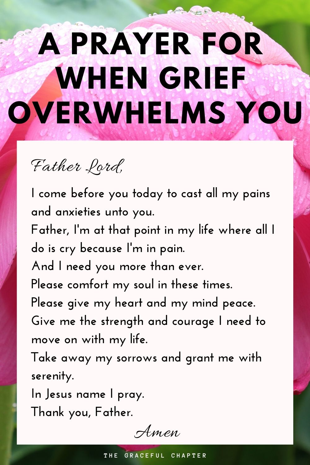 prayer for when grief overwhelm you