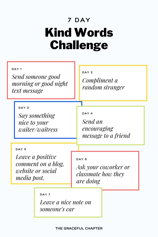 kind words challenge