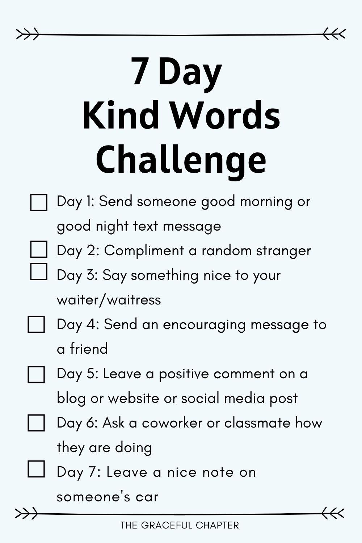 7 day kind words challenge