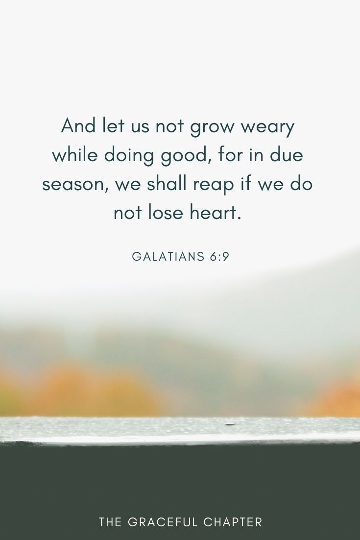 we shall reap if we do not lose heart.