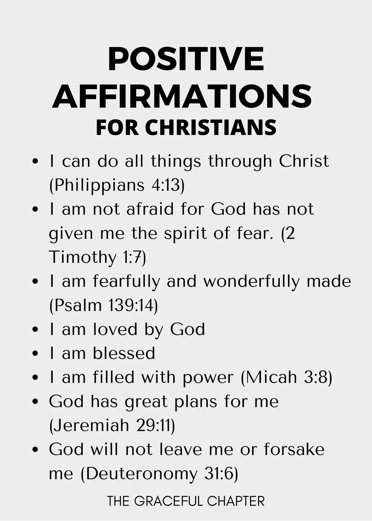 positive affirmations for christians