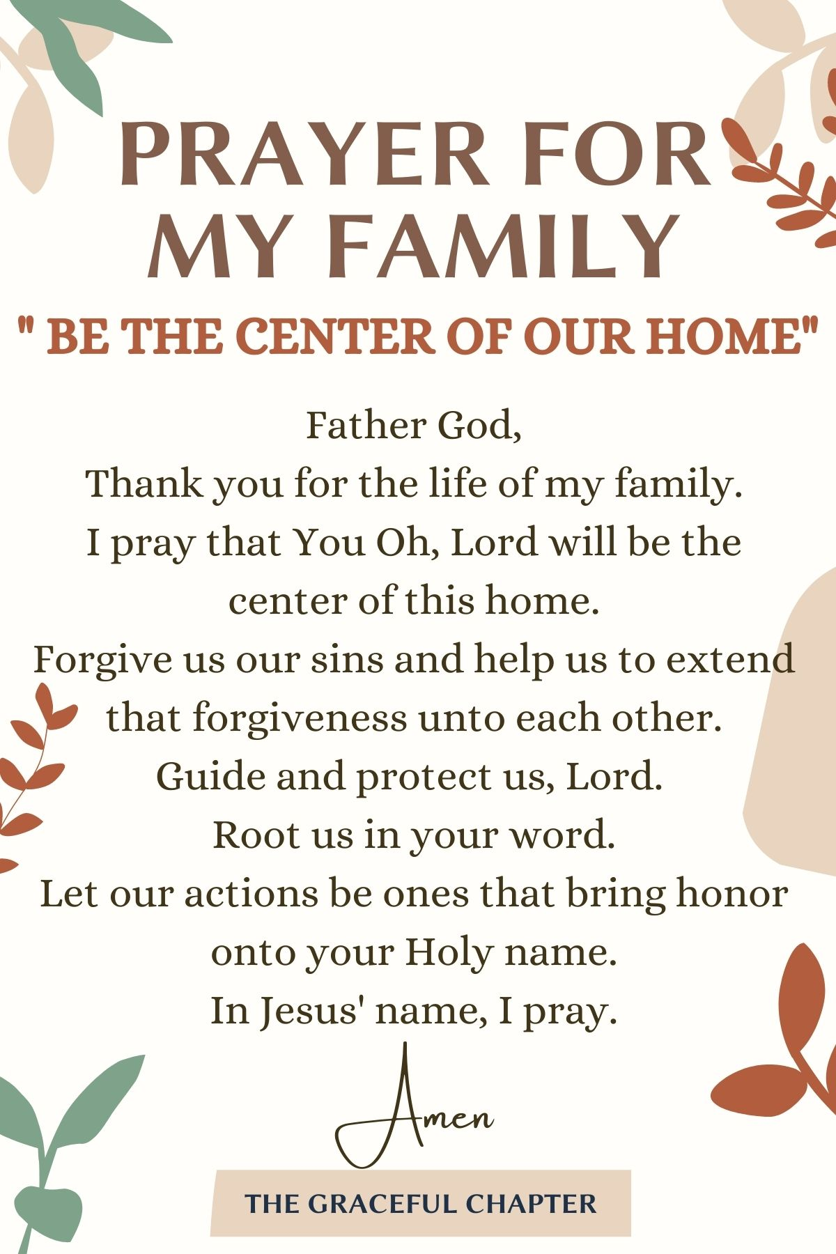 Be The Center Of Our Home