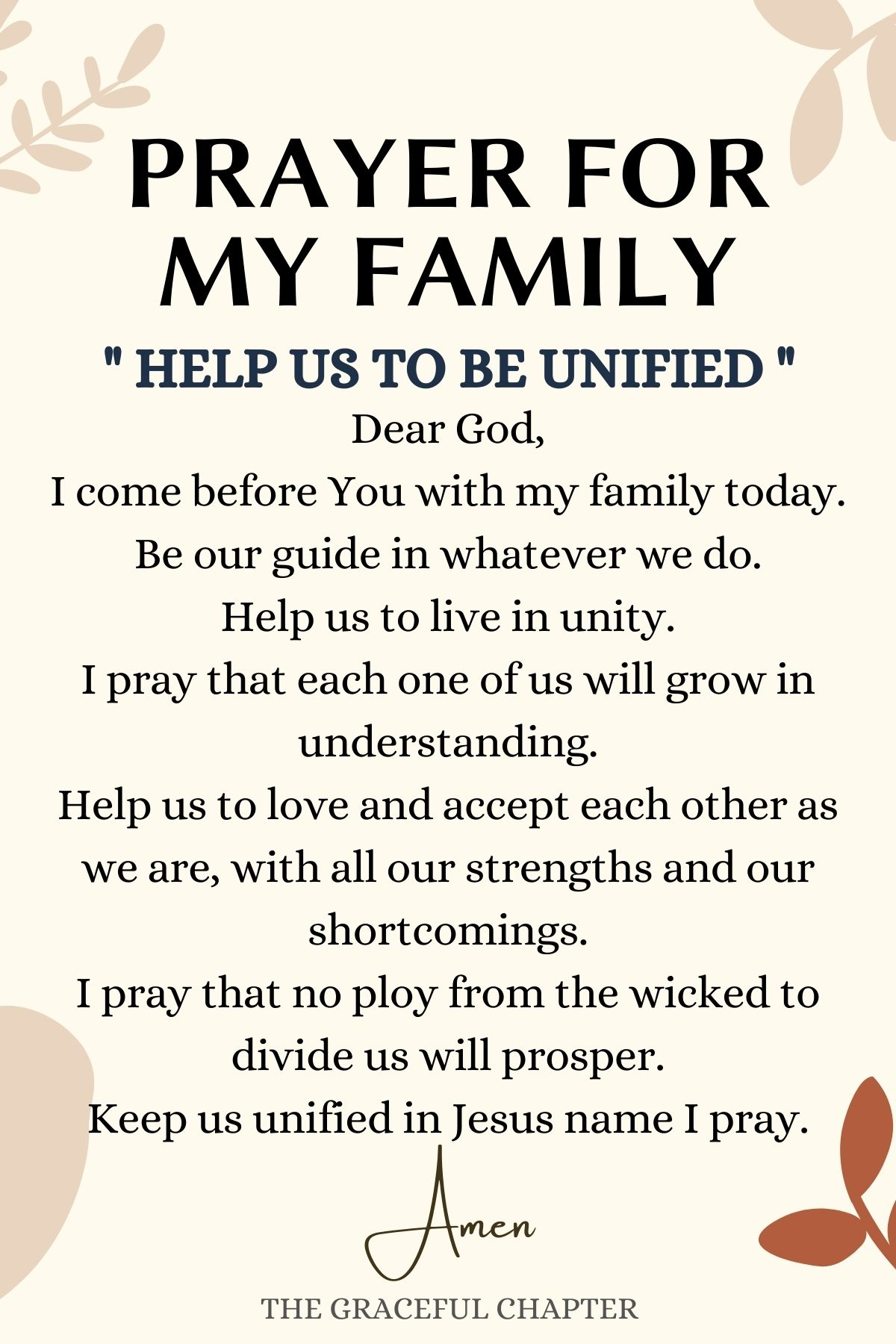 Help Us Be Unified