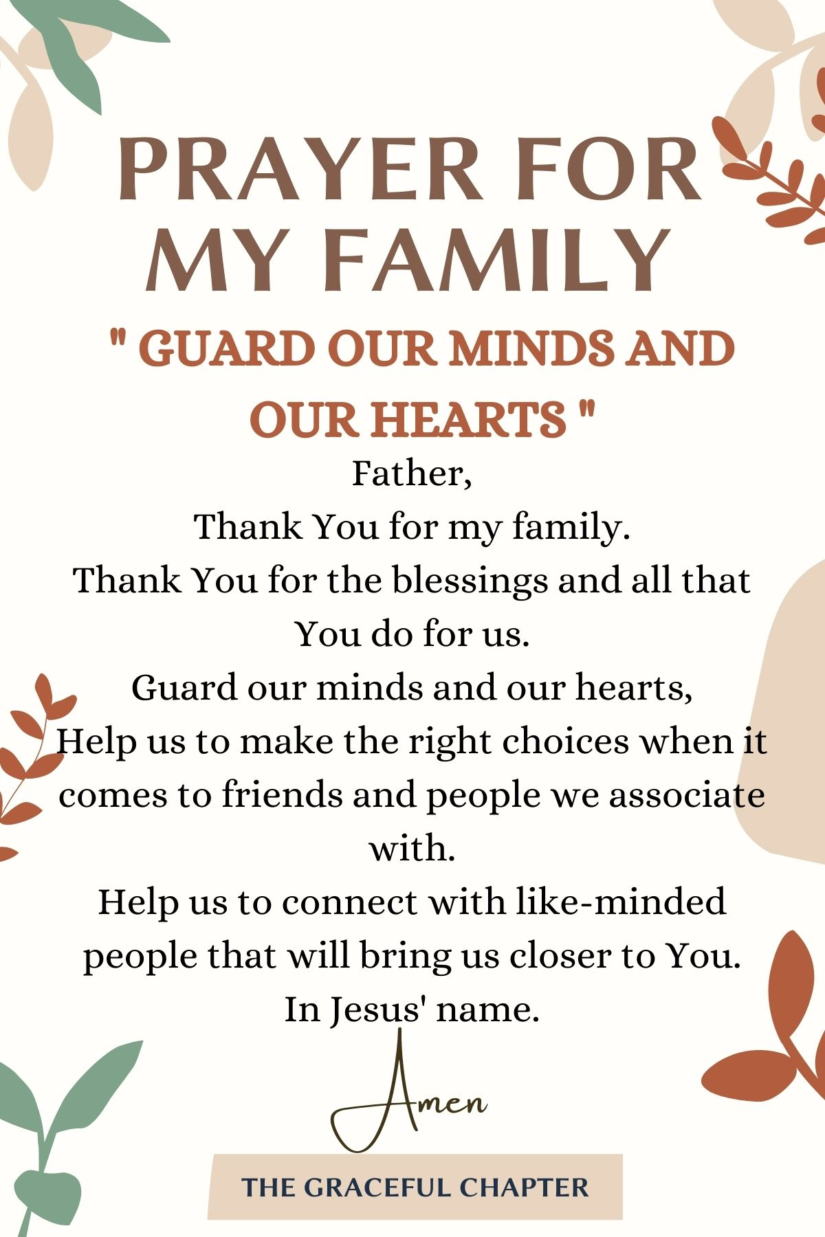 Guard our minds and our hearts