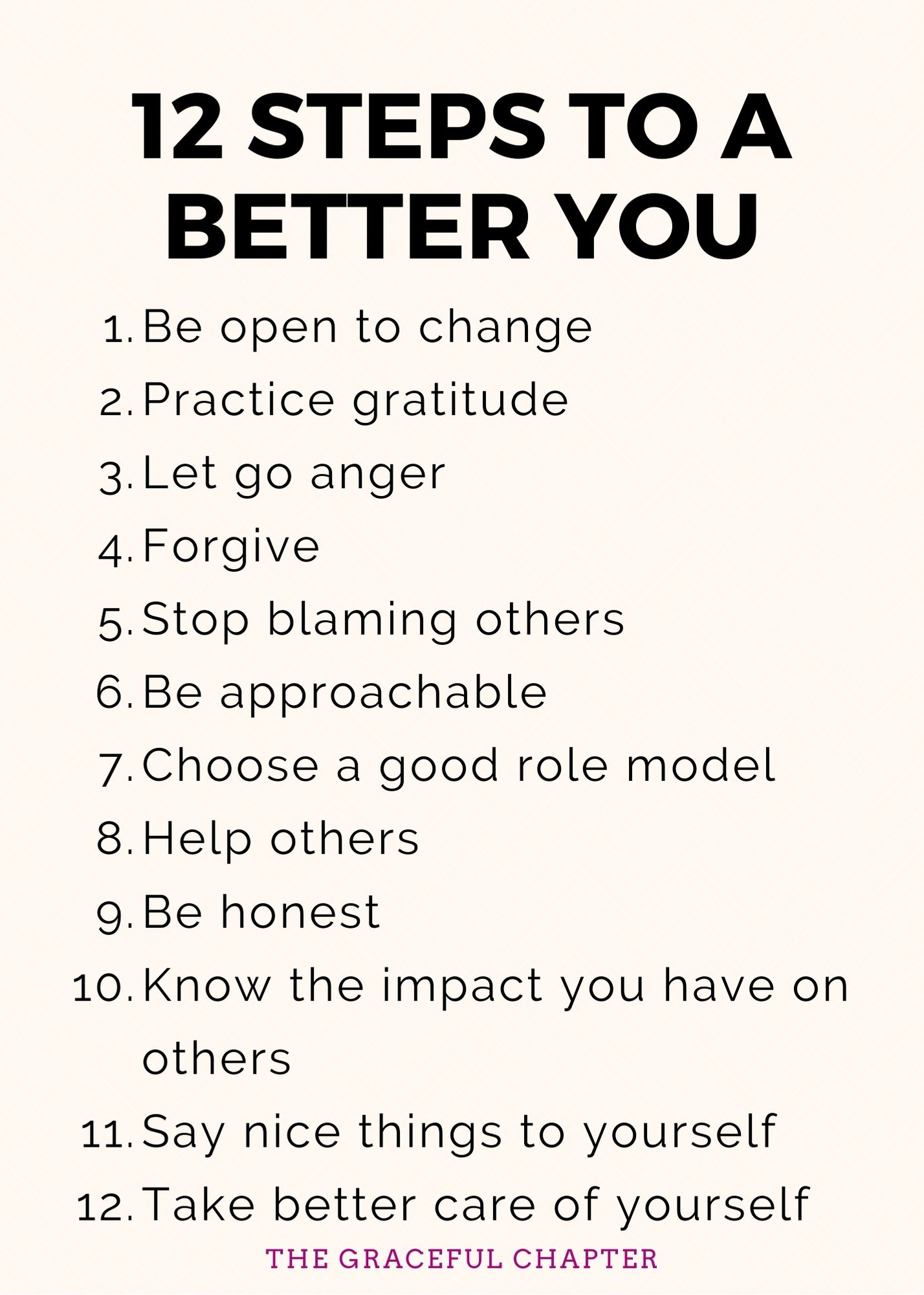 12 steps to a better you