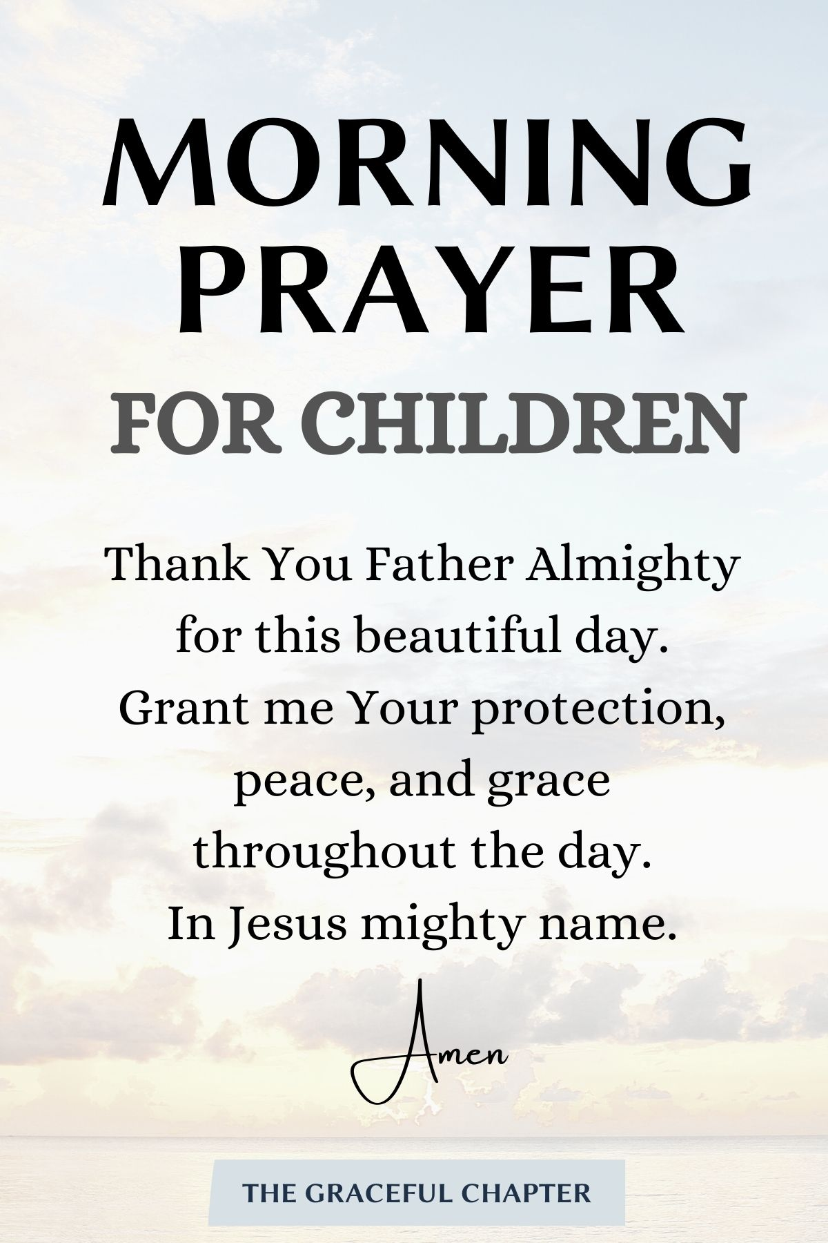 Morning prayer for children