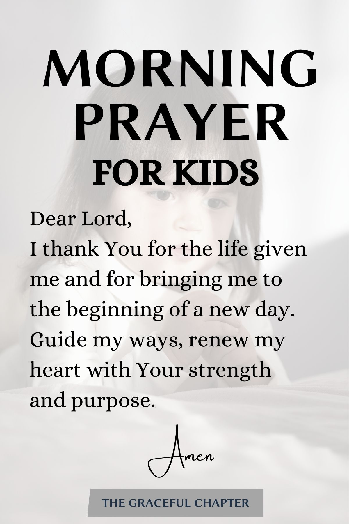 A simple morning prayer for kids