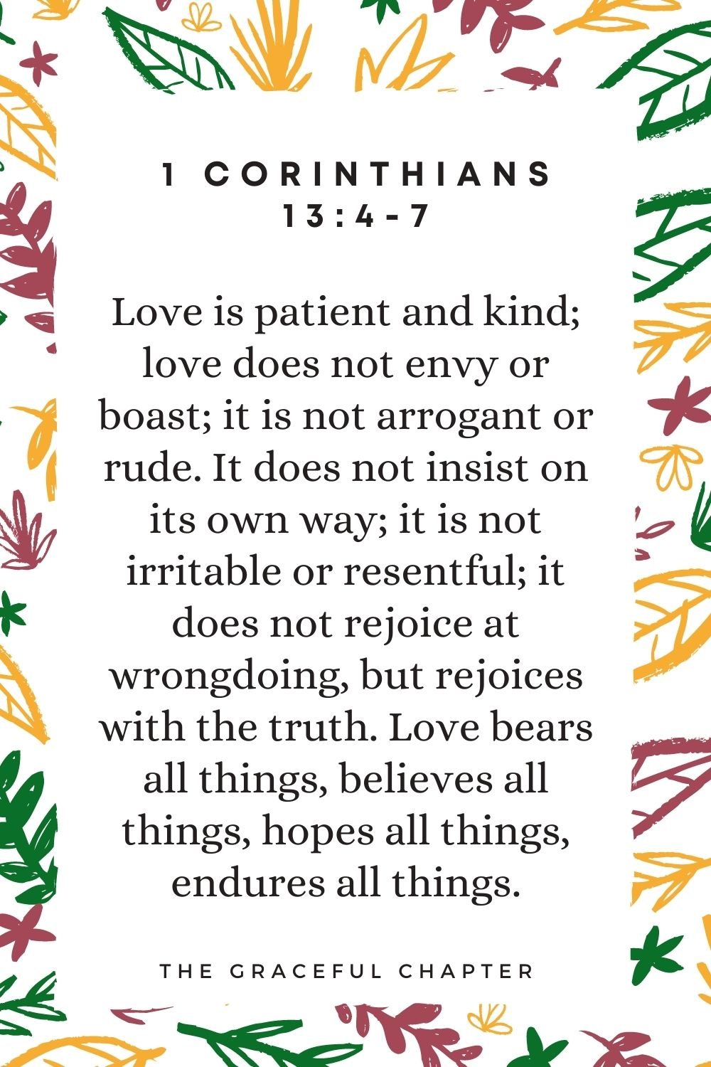 What is love, according to the Bible?