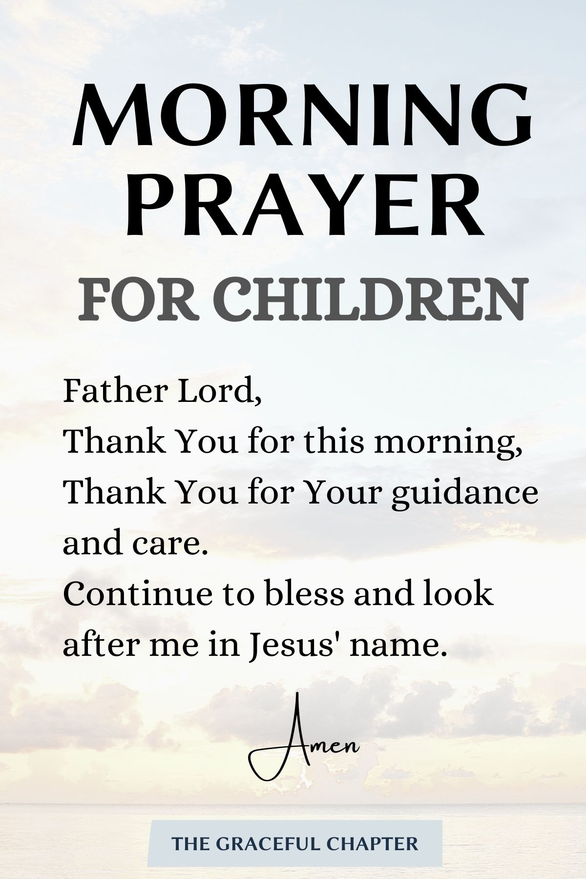 a simple morning prayer for children