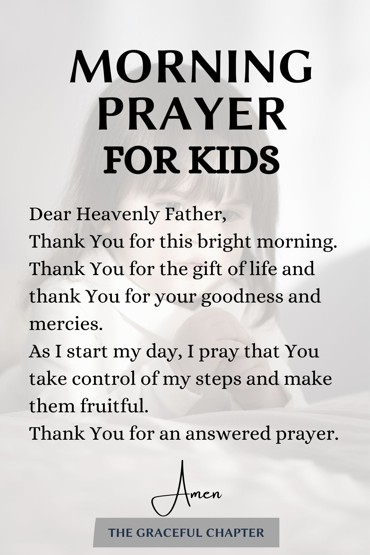 a morning prayer for your kid