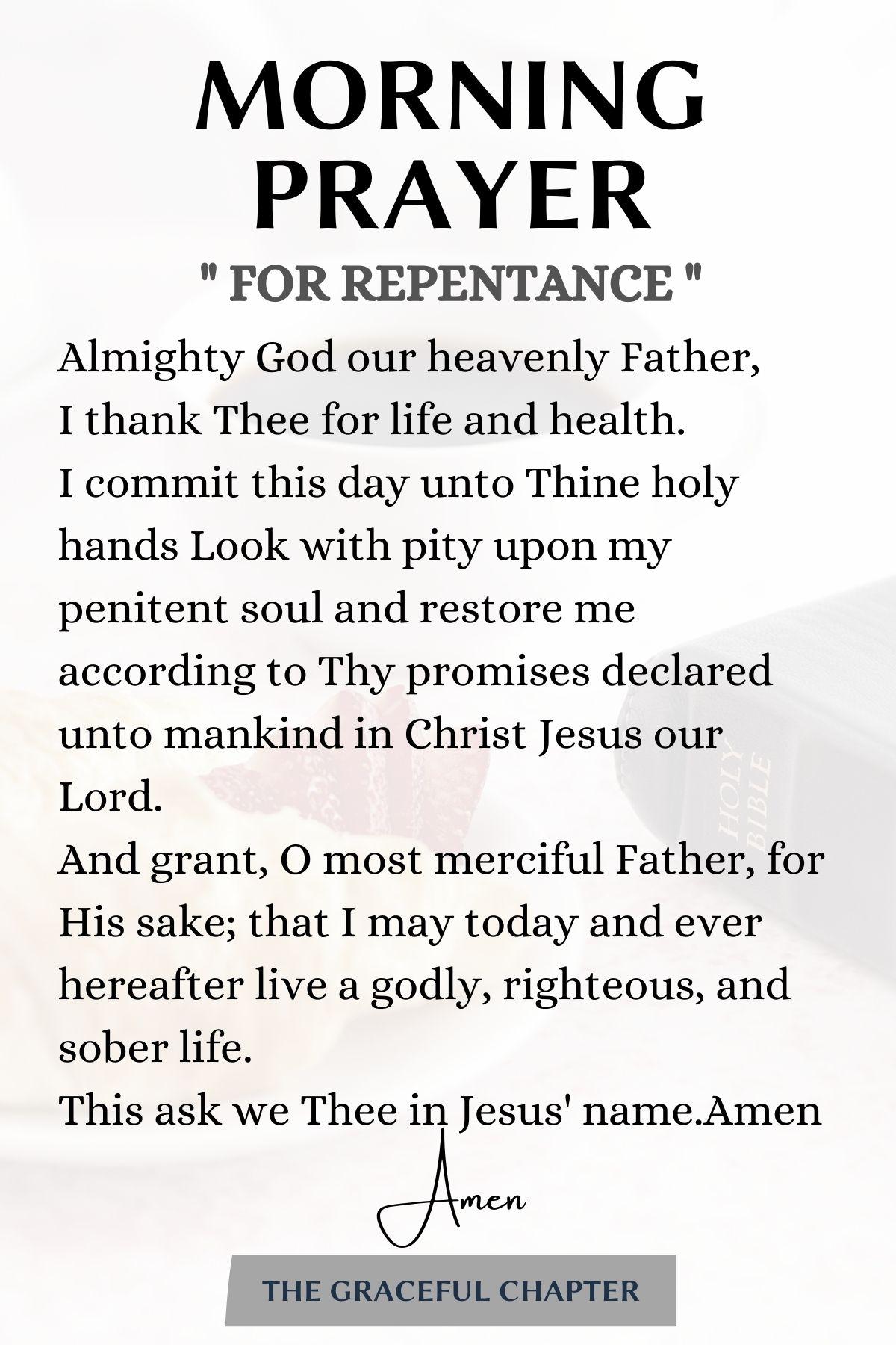 prayer for repentance