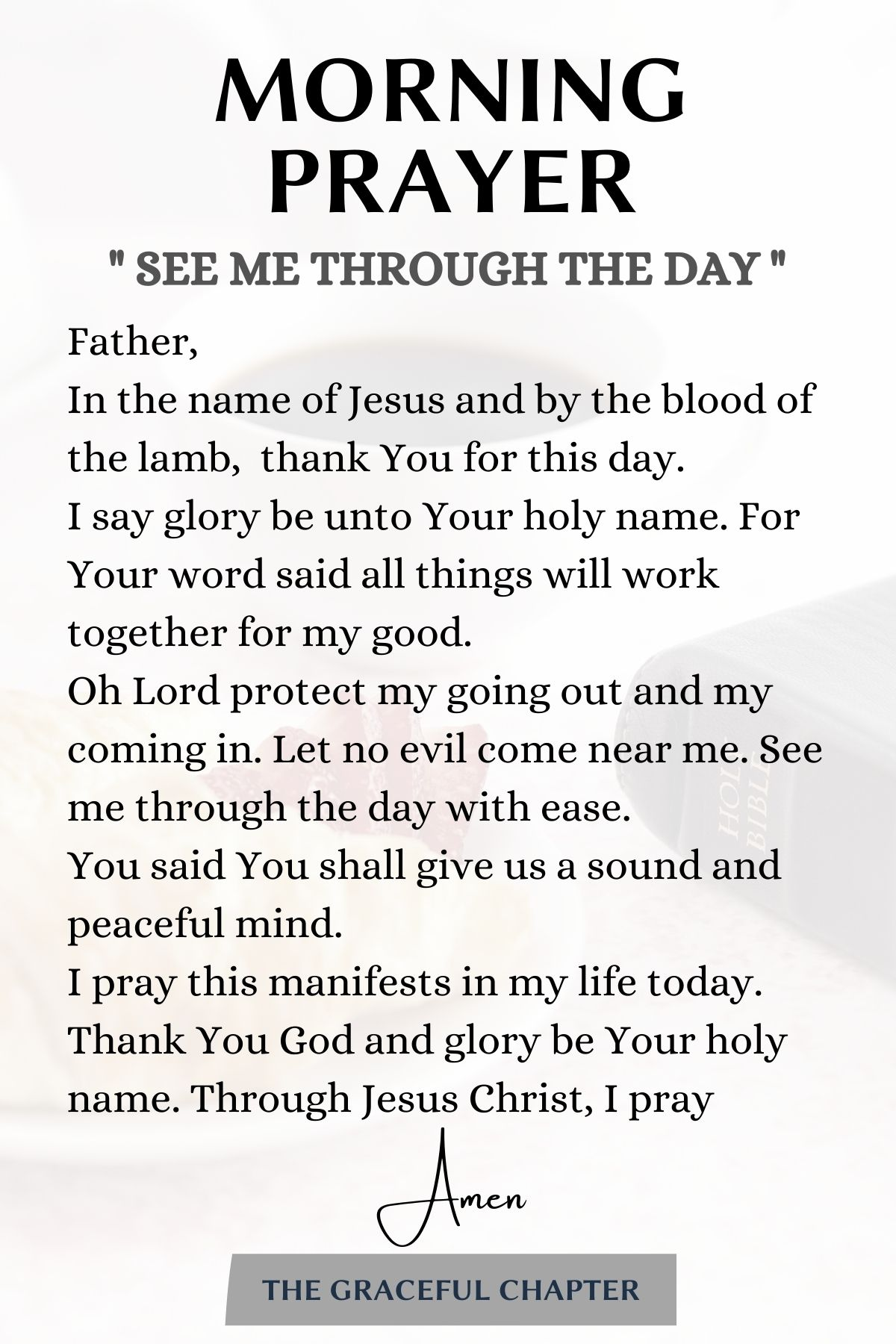 morning prayer- see me through the day