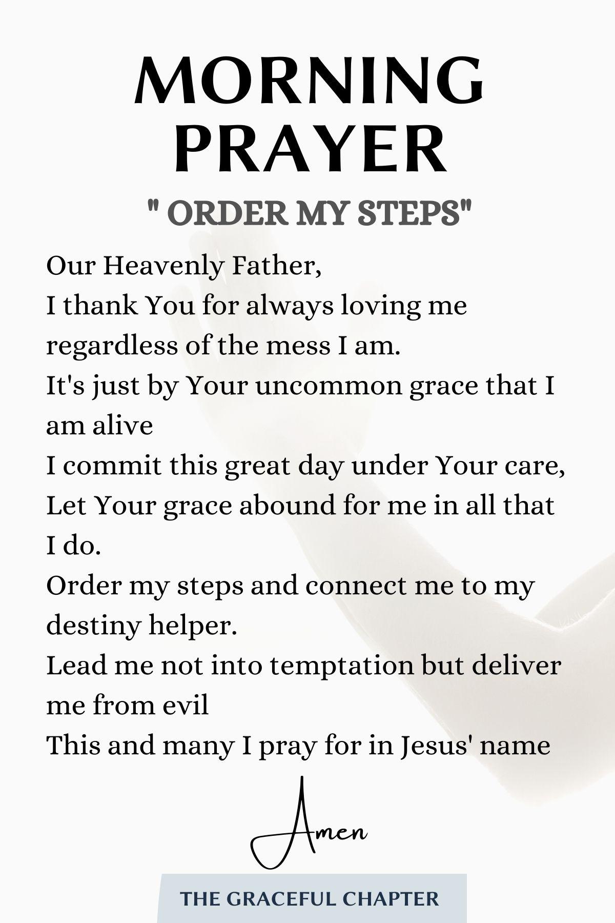 morning prayer - order my steps