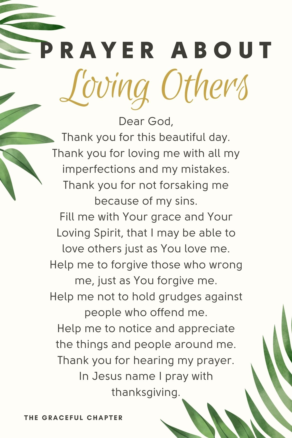 prayer about loving others