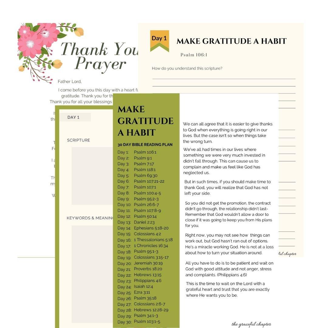 thanksgiving bible reading plan