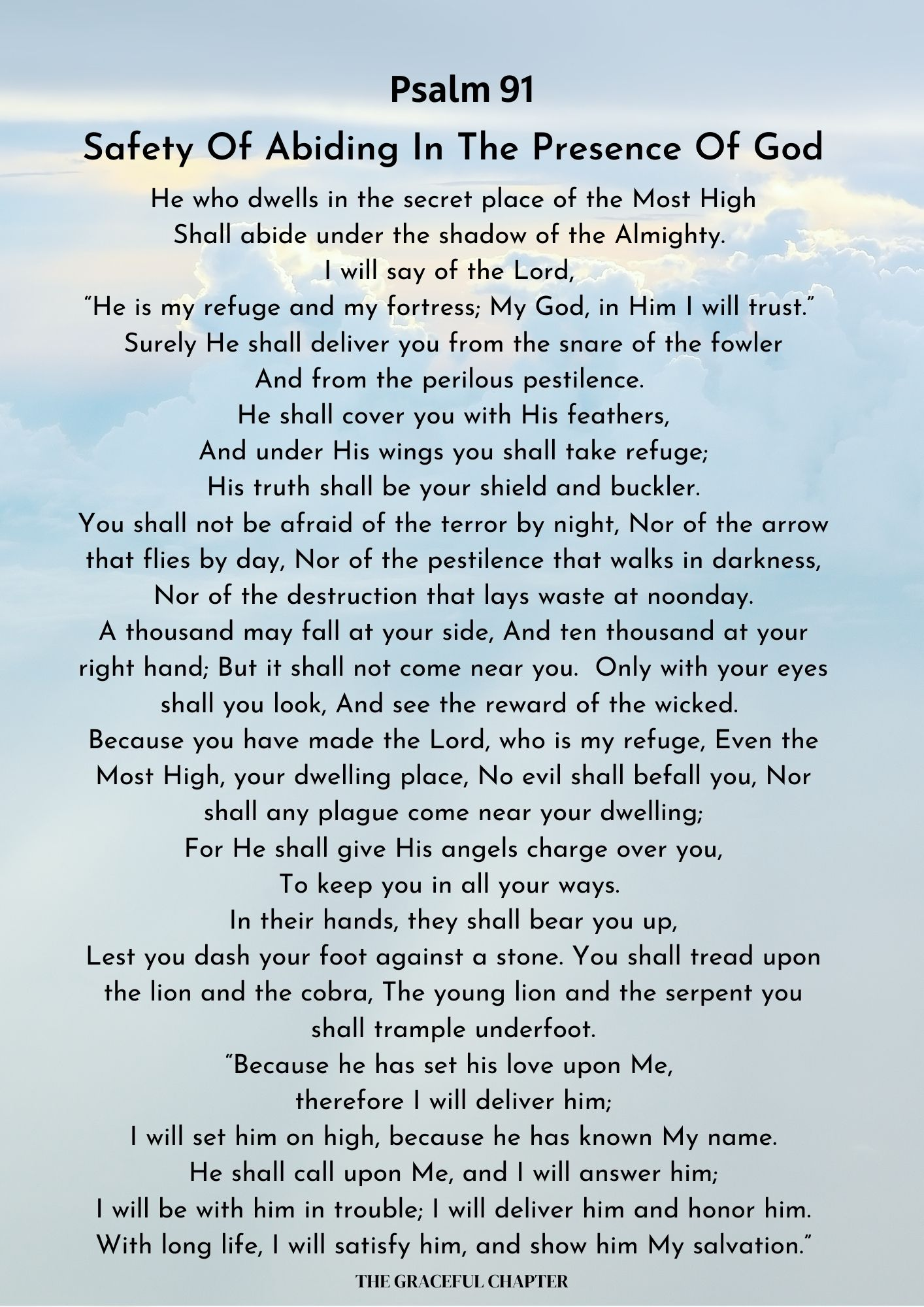 Psalm 91 - Safety of abiding in the presence of God