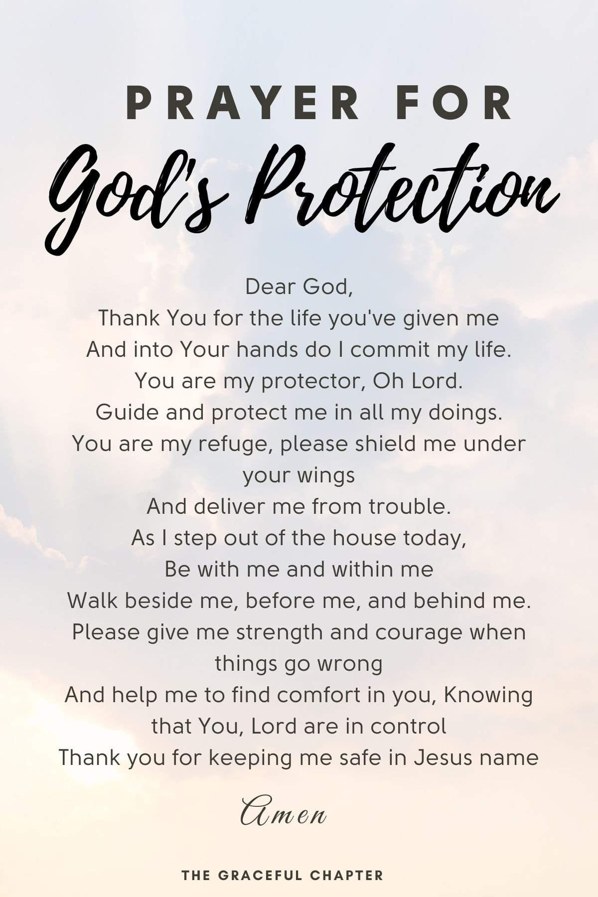 Prayer for God's protection