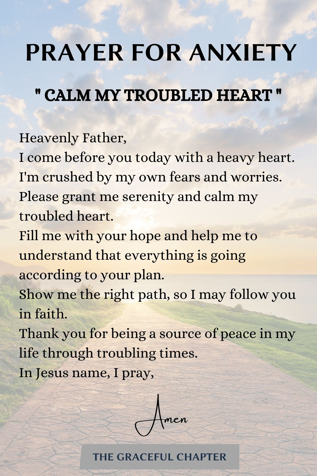 prayers for anxiety - calm my troubled heart