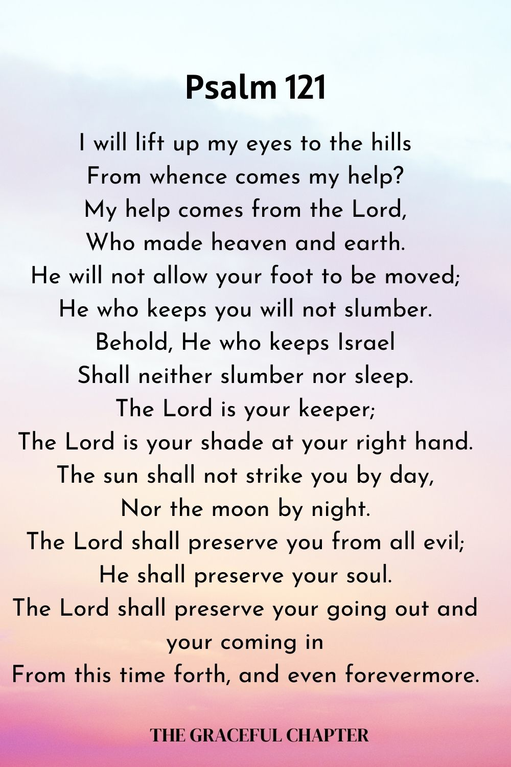 Psalm 121 _my help comes from the Lord