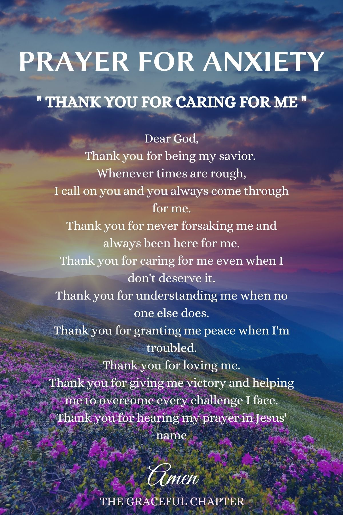 Thank you for caring for me