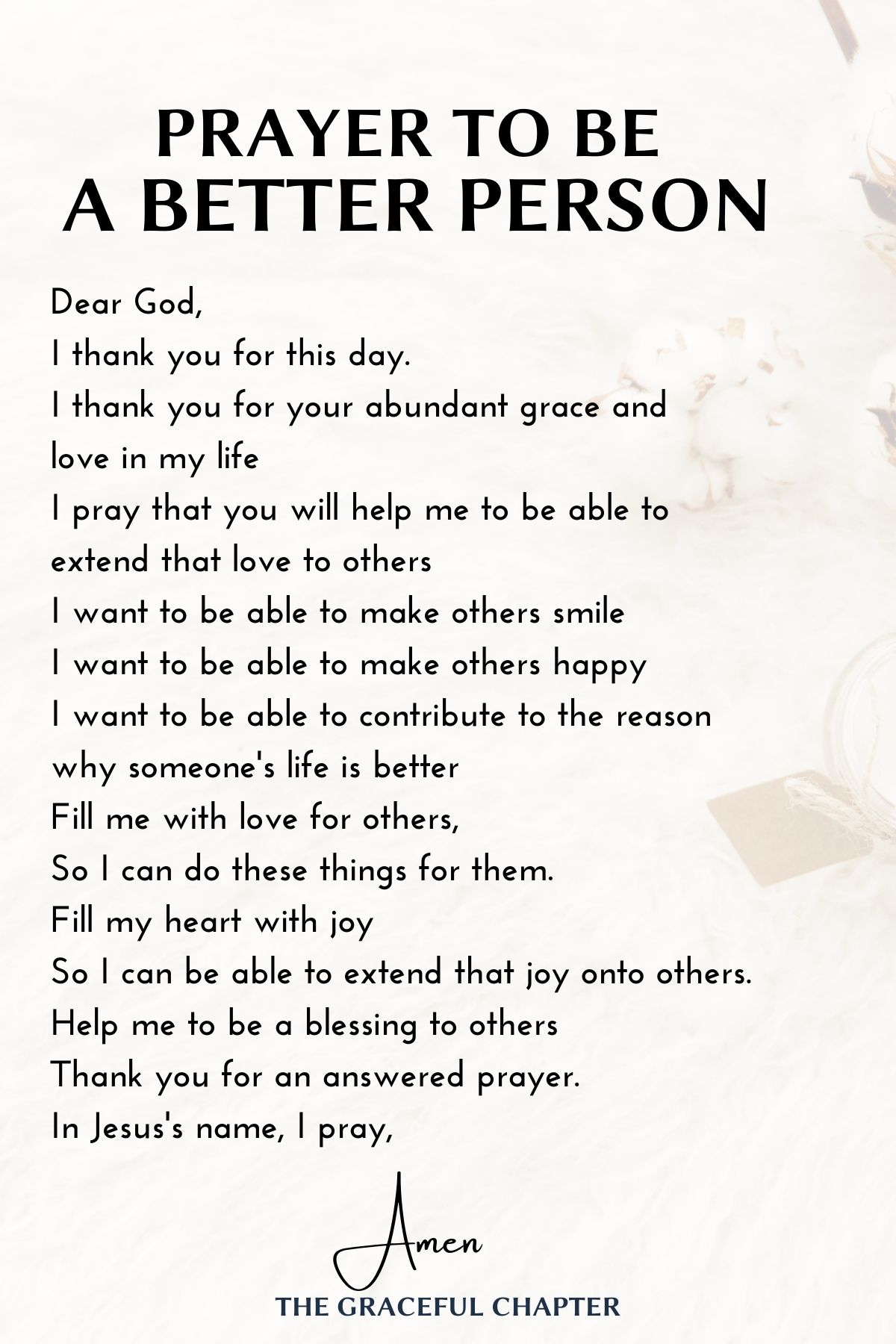 Prayer to be a better person
