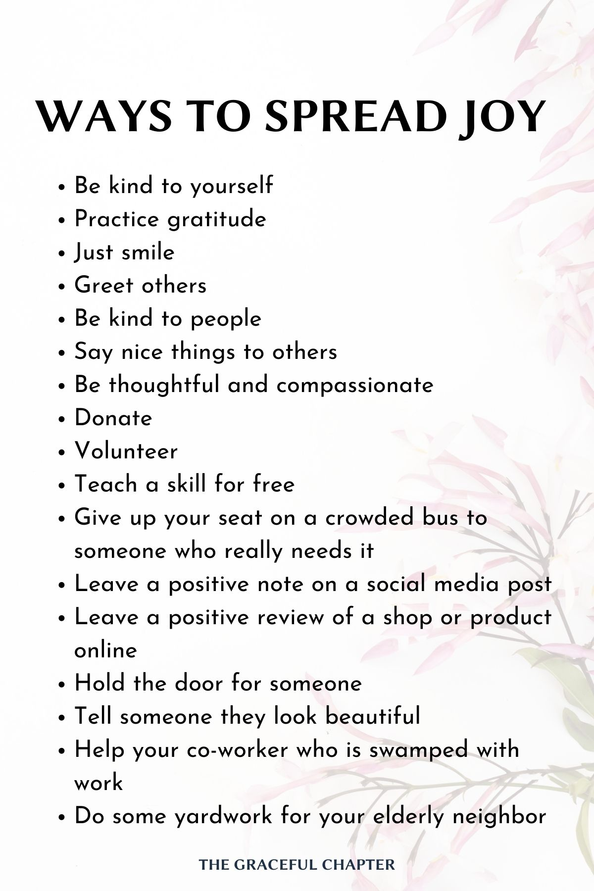 Simple ways to spread joy