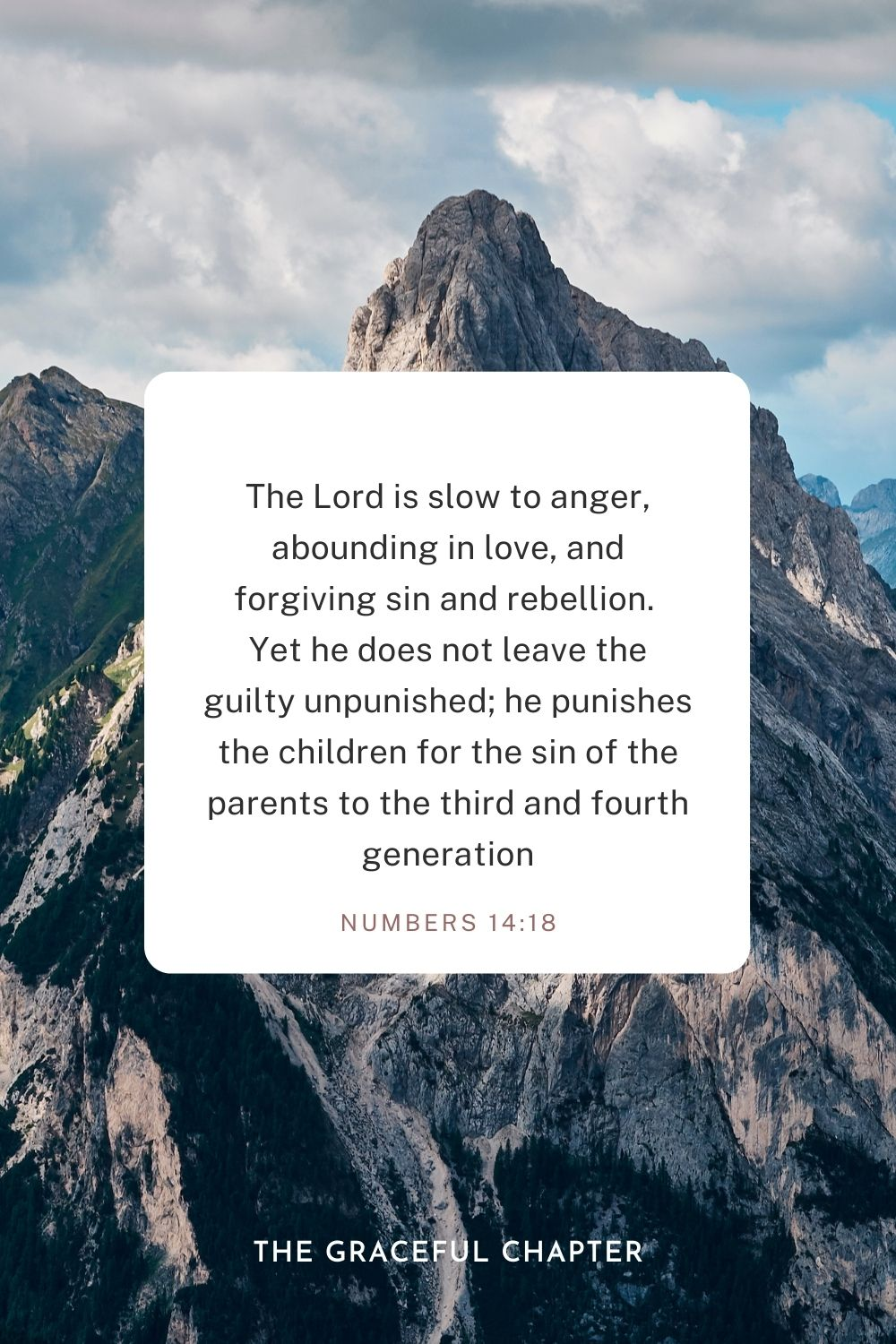 Numbers 14:18 Bible verses on forgiveness