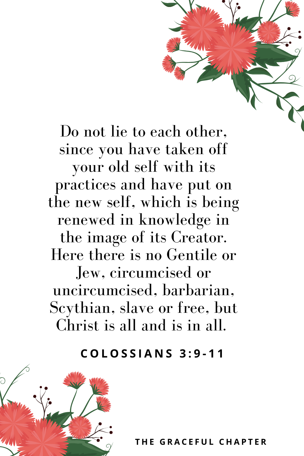 bible verses on new beginnings Colossians 3:9-11