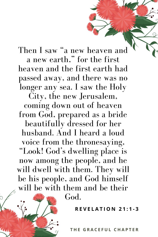 bible verses on new beginnings Revelation 21:1-3