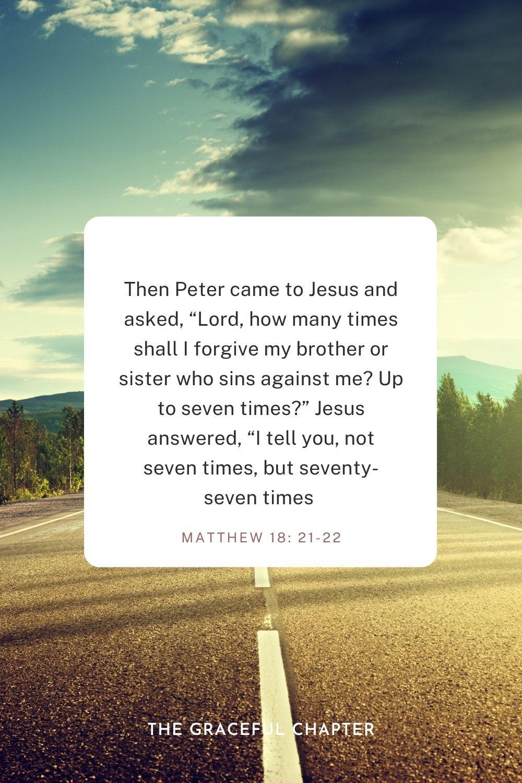 Matthew 18: 21-22