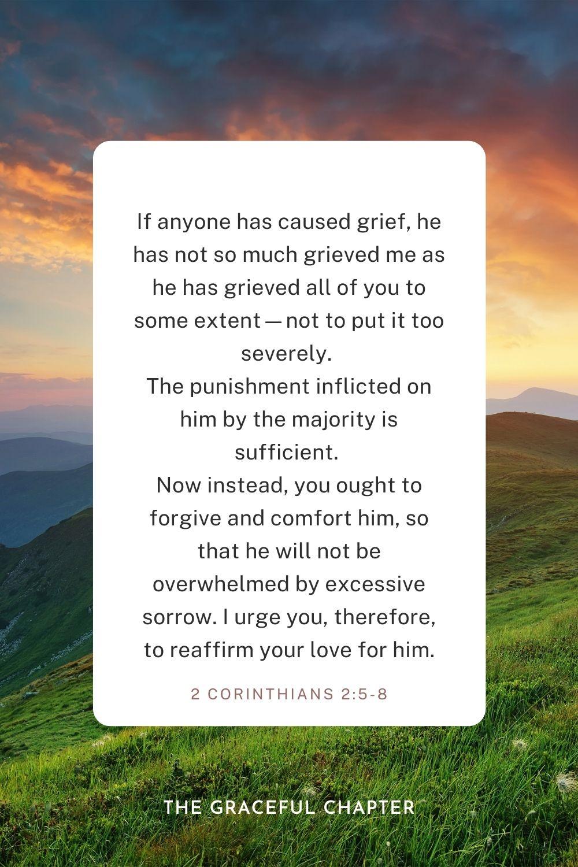 2 Corinthians 2:5-8