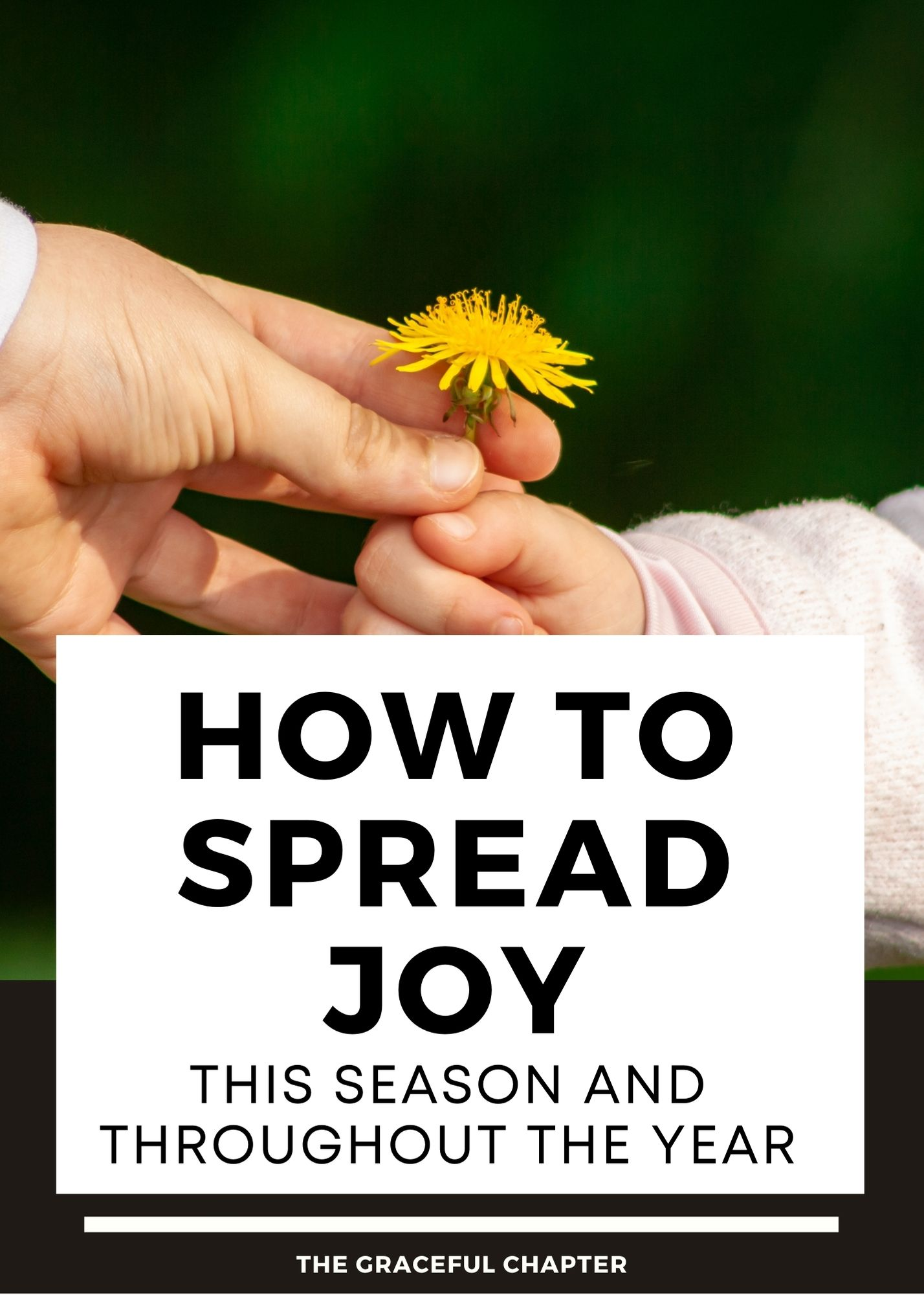 How to spread joy this season and throughout the year