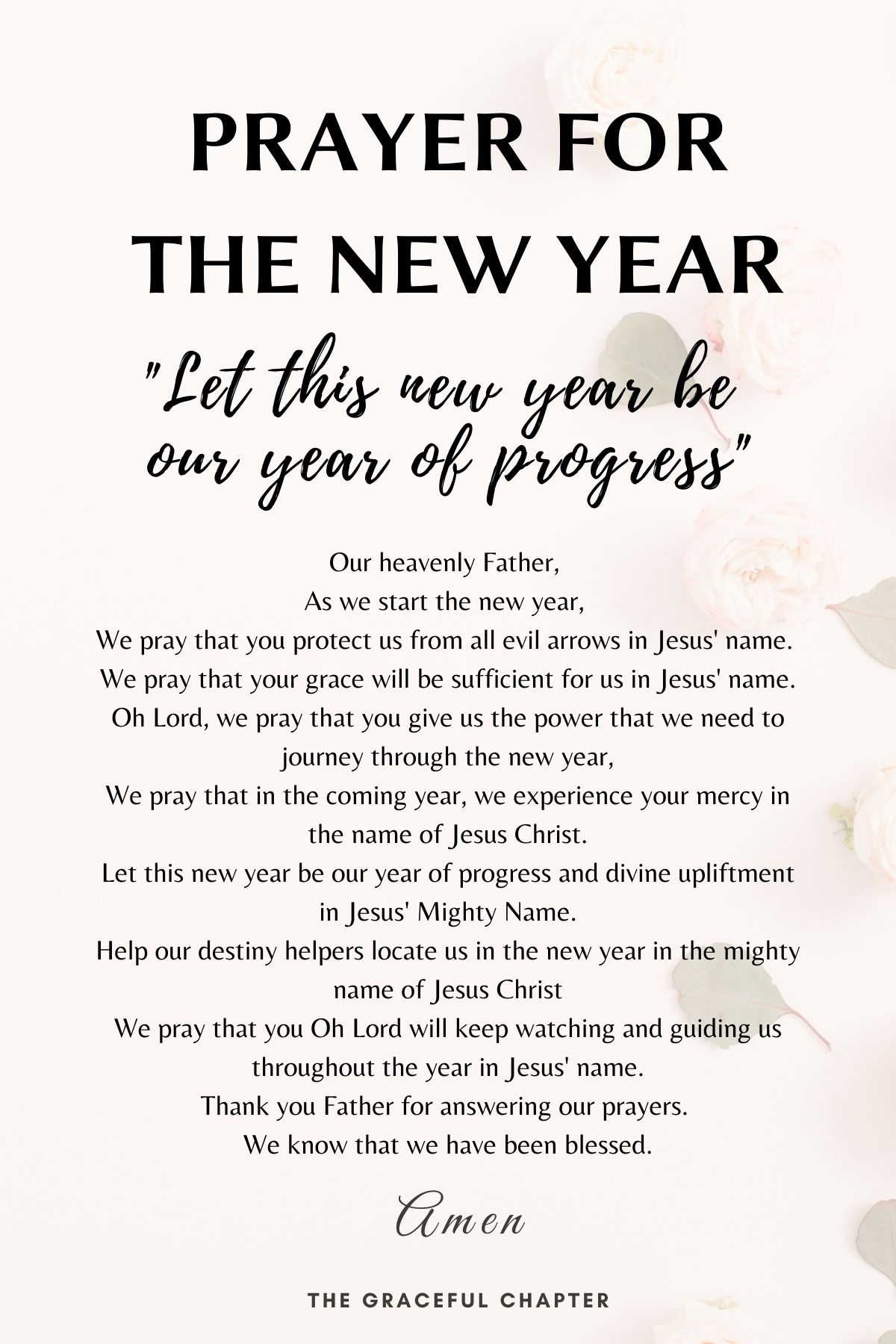 Let this new year be our year of progress