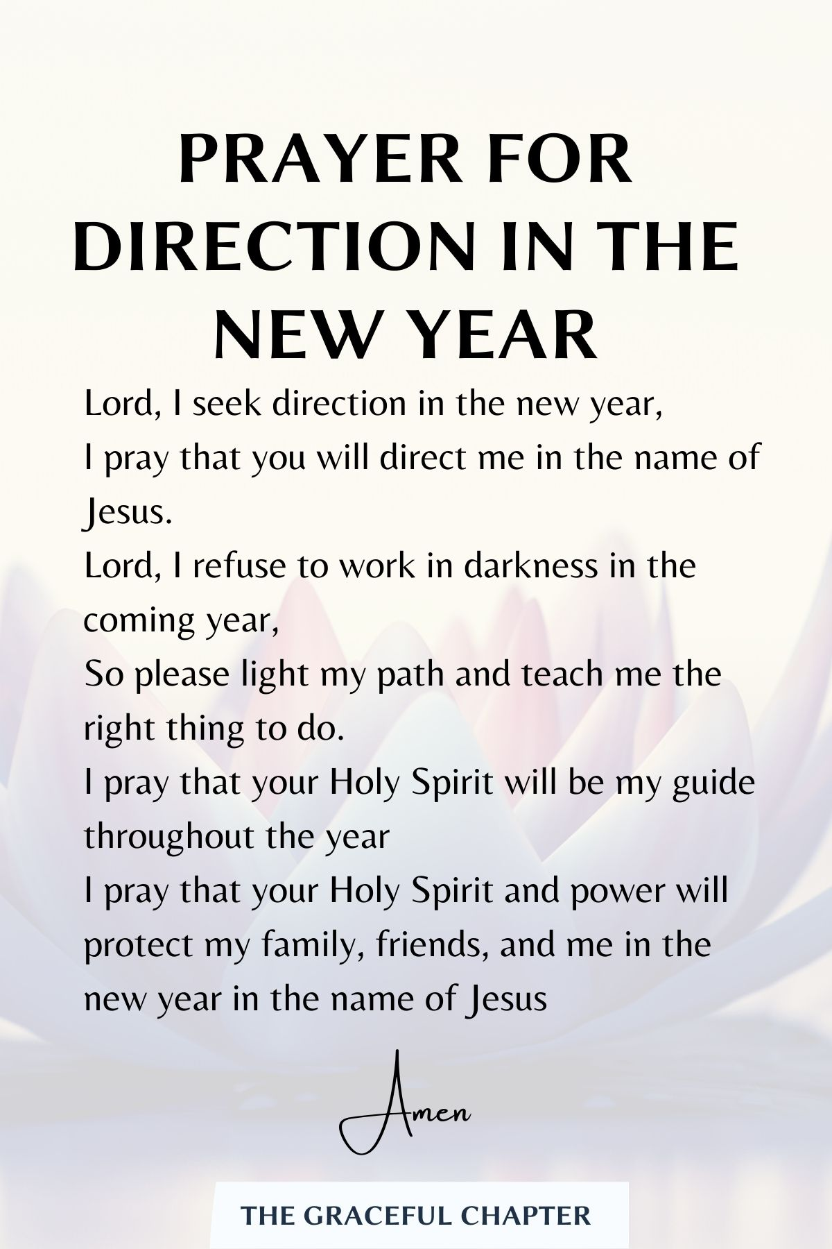 Prayer for direction in the new year