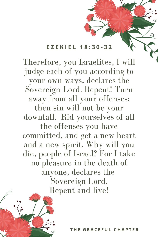 Ezekiel 18:30-32