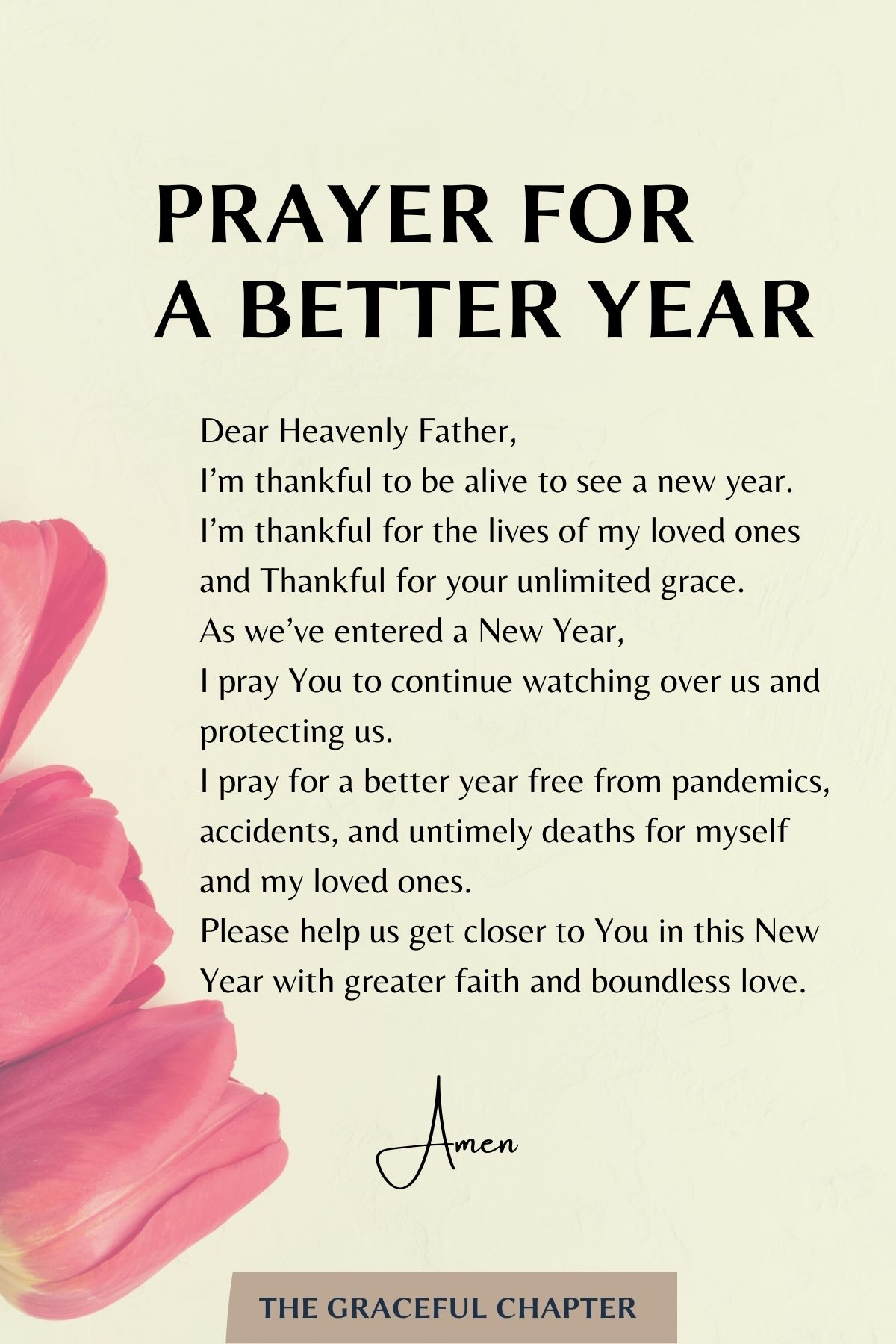 Prayer for a better year