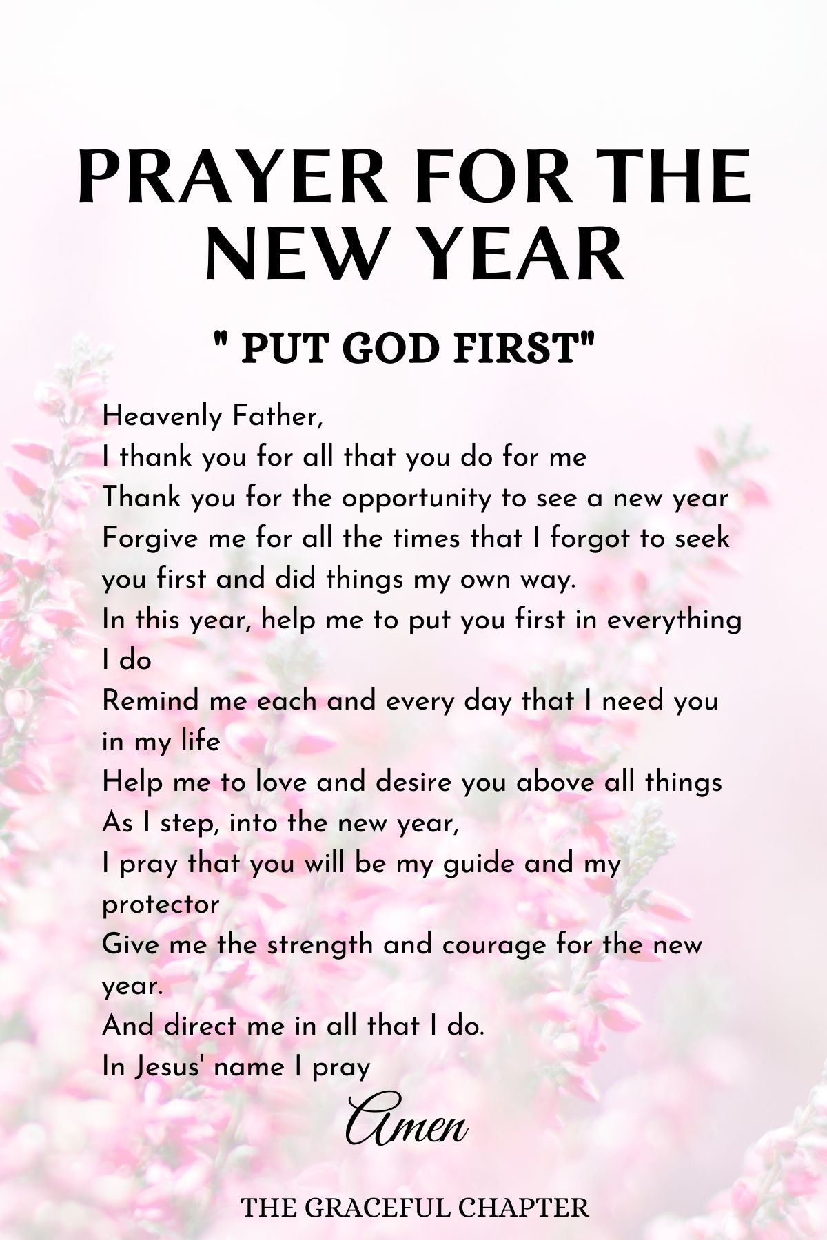Prayers for the new year - Put God first