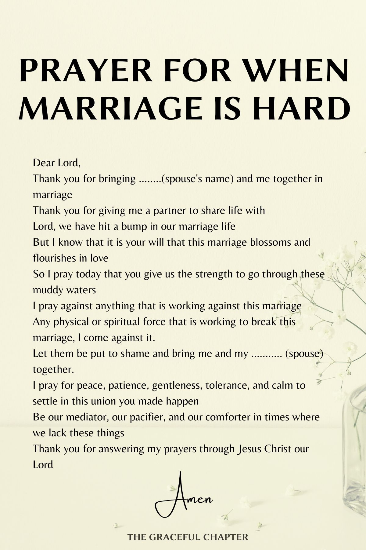 prayer for when marriage is hard