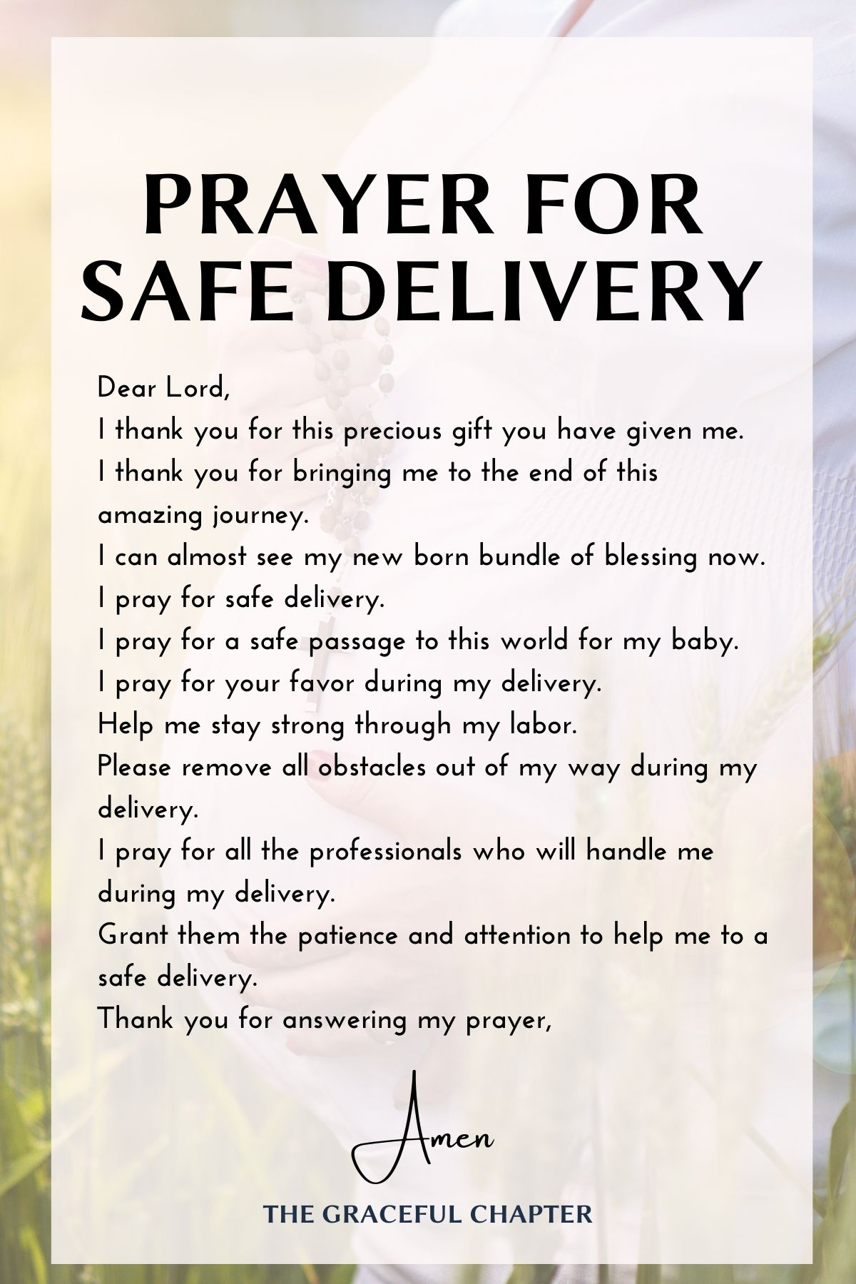 Prayers for pregnant women for safe delivery