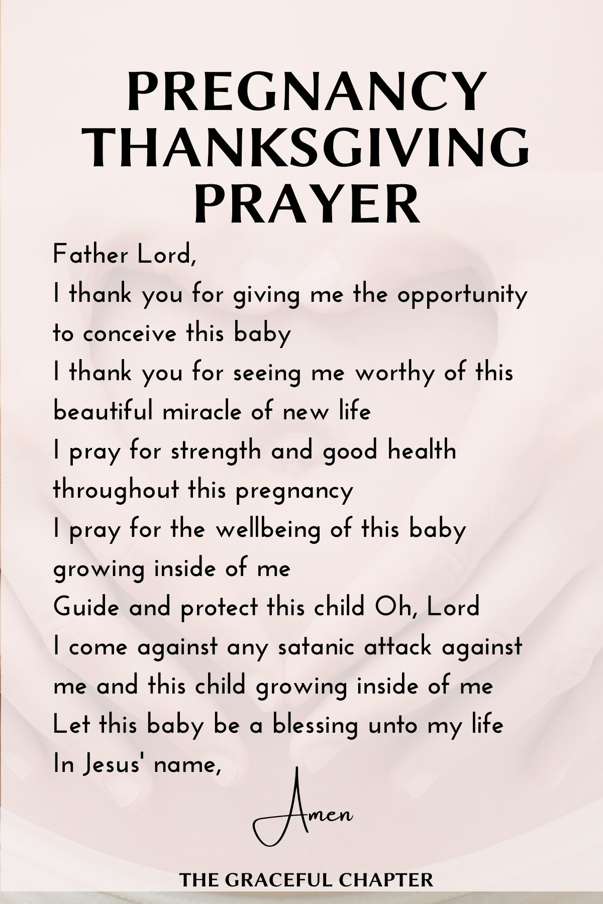 Pregnancy Thanksgiving prayer