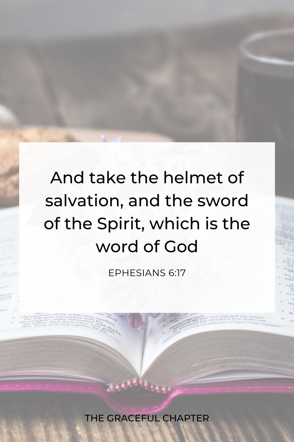 And take the helmet of salvation, and the sword of the Spirit, which is the word of God Ephesians 6:17