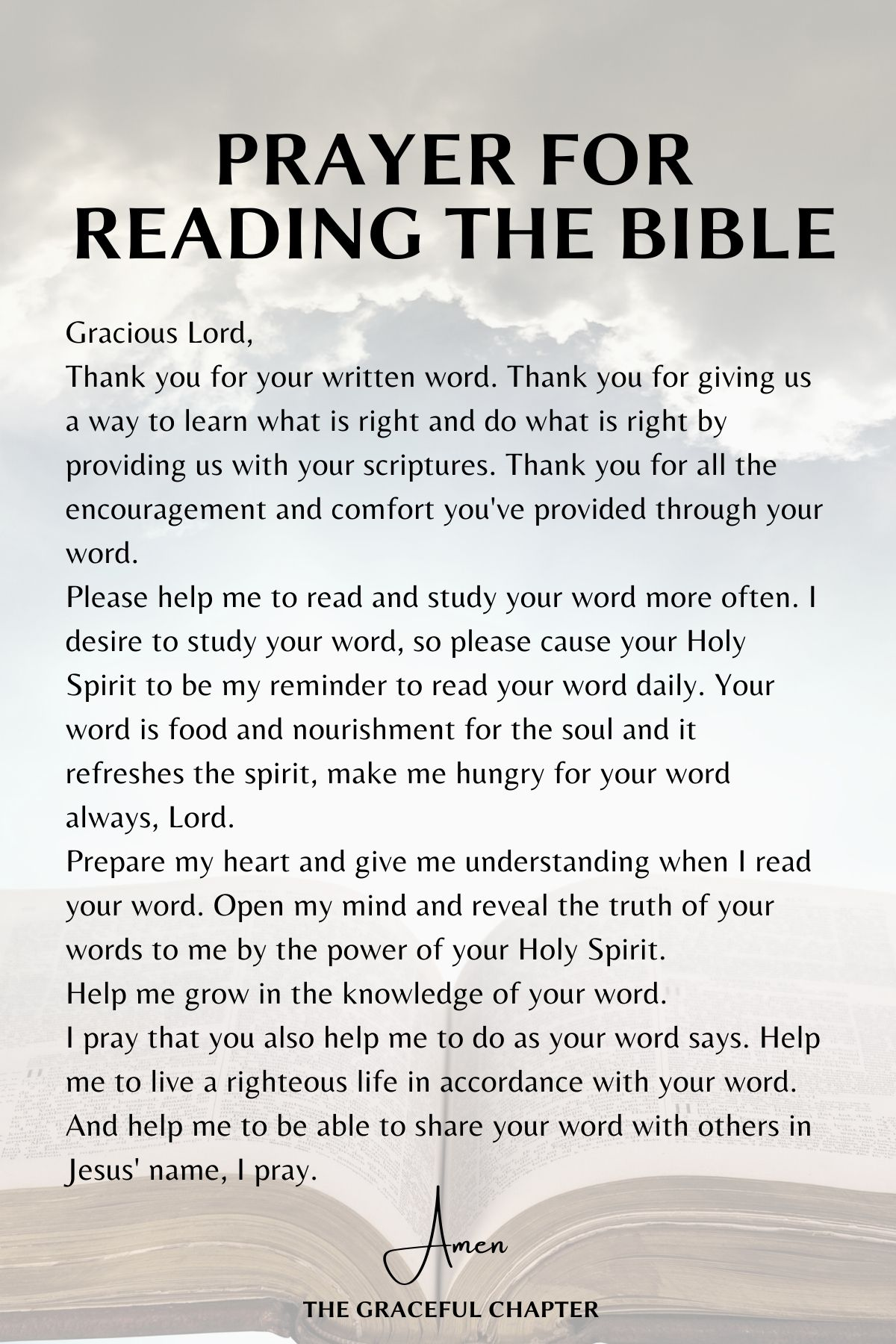 Prayer for reading the Bible