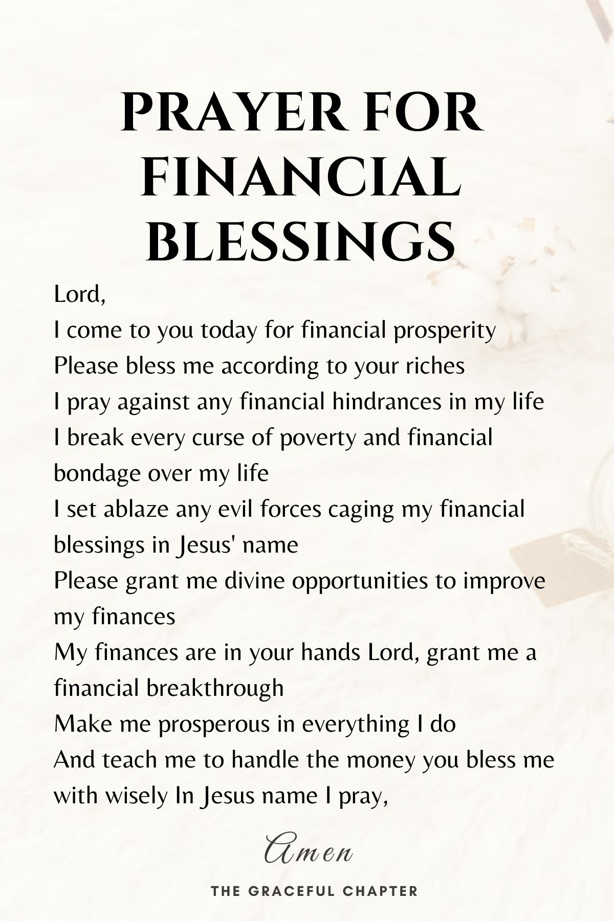Prayer for financial blessings