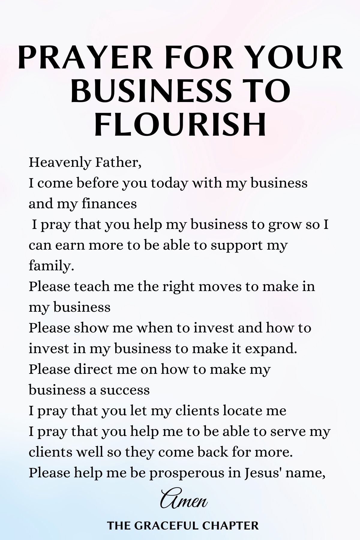 Prayer for your business to flourish