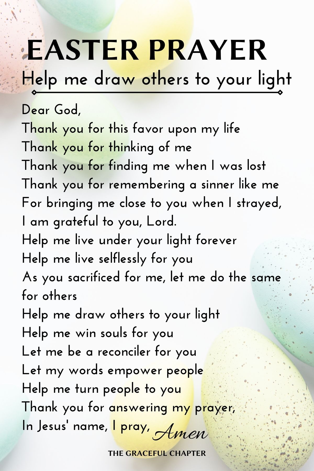 easter prayer - help me draw others to your light
