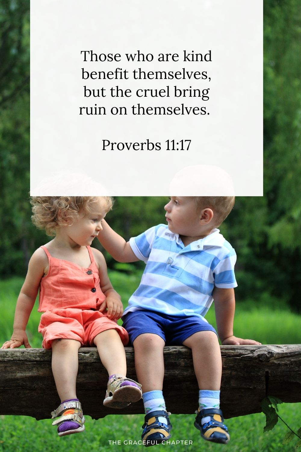 Those who are kind benefit themselves, but the cruel bring ruin on themselves.  Proverbs 11:17