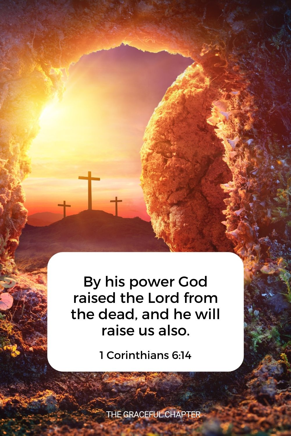 By his power, God raised the Lord from the dead, and he will raise us also. 1 Corinthians 6:14